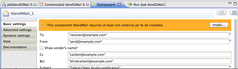 Send Emails from your Talend Jobs