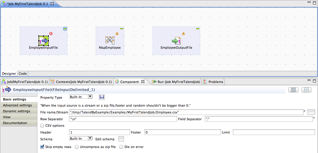 My First Talend Job Image 5