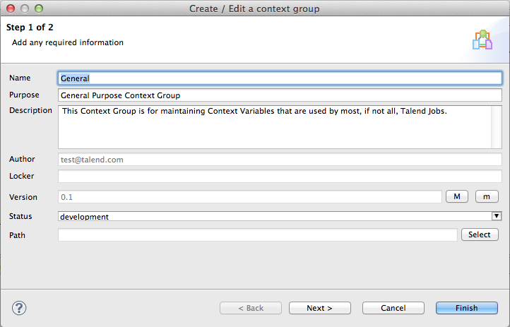 Talend Load Context Example Image 2