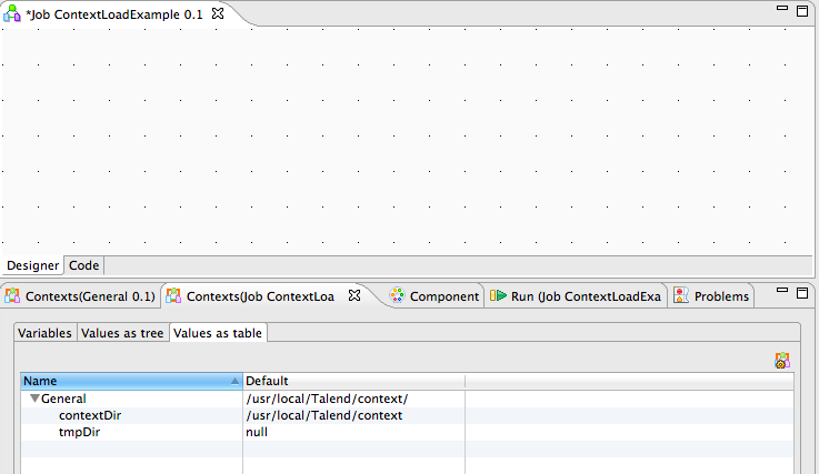 Talend Load Context Example Image 6