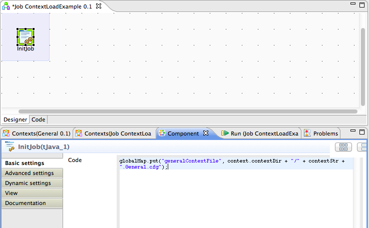 Talend Load Context Example Image 7