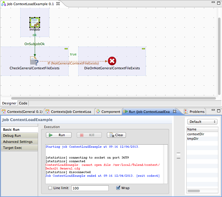 Talend Load Context Example Image 8