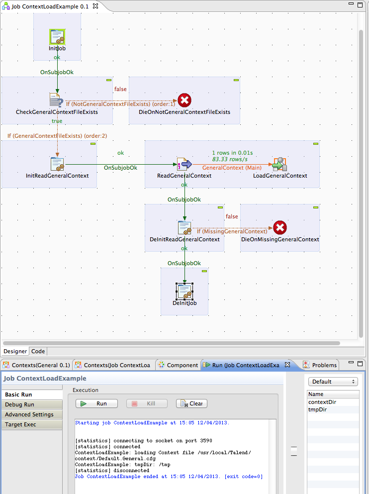 Talend Load Context Example Image 9