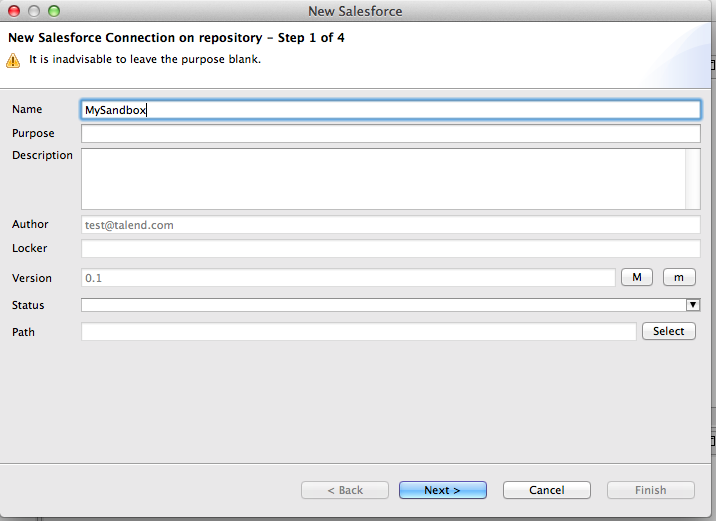 Talend by Example - Repository Metadata